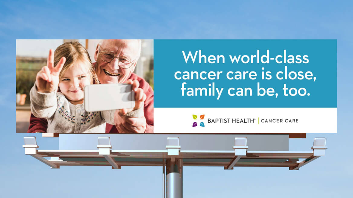 Baptist health billboard for world class cancer care